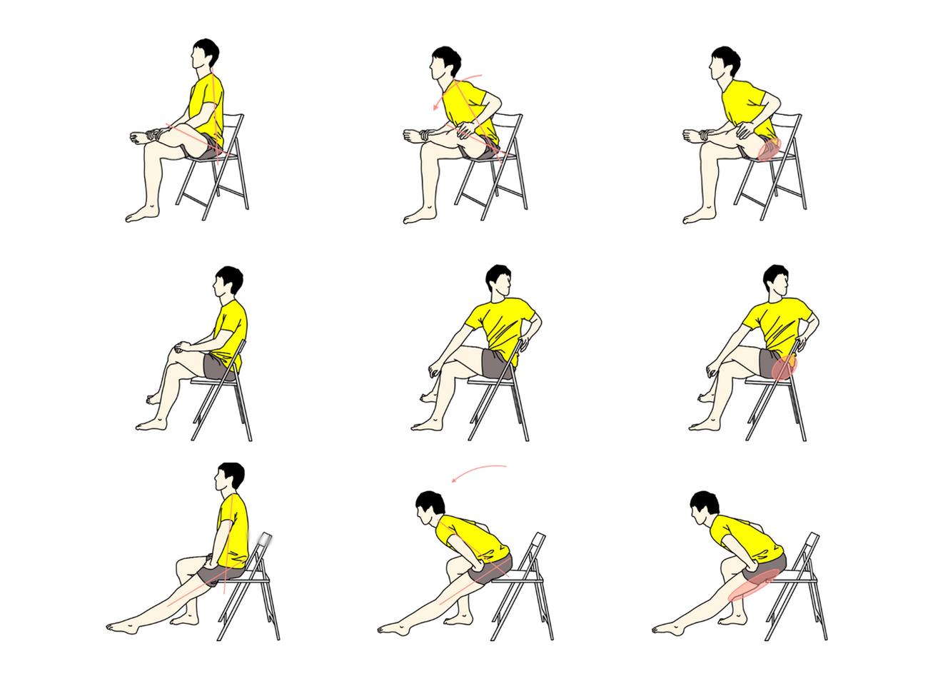 デスクワークでの腰痛を予防するストレッチ