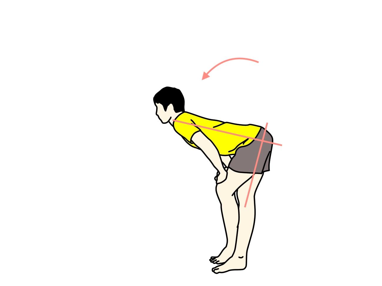 脚をクロスして行うもも裏の筋肉(ハムストリングス)のストレッチ