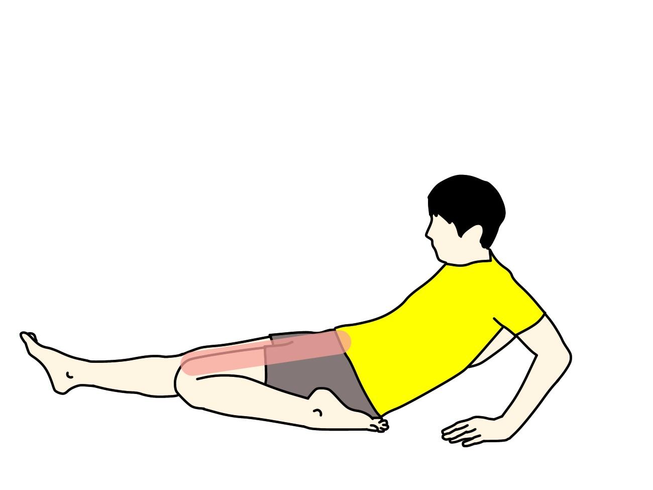 もも前(大腿四頭筋)の筋肉の伸ばし方