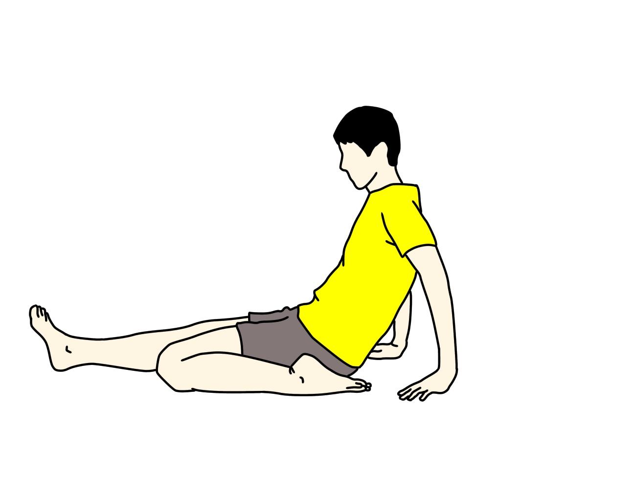 前後開脚(スピリッツ)の動作を柔らかくしたい人にオススメの大腿四頭筋のストレッチ1
