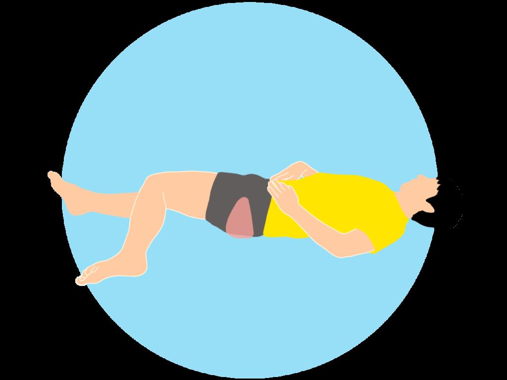 梨状筋(深層外旋六筋)のストレッチ(仰向け姿勢)