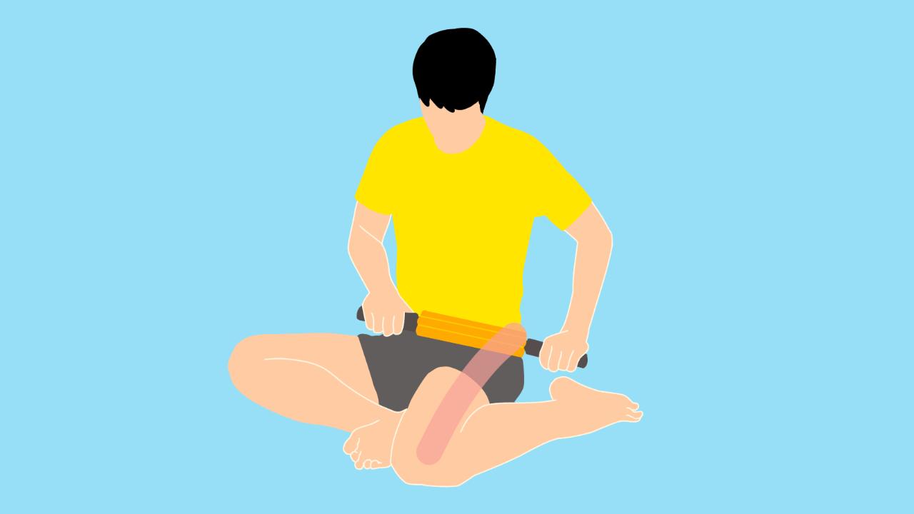 グリッドフォームローラーの使い方【ももの外側(大腿筋膜張筋・腸脛靭帯)】