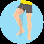 股関節を外に捻る動作(股関節の外旋)