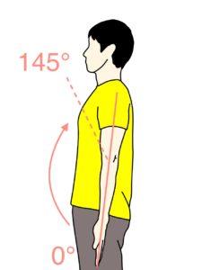 肘を曲げる動作(肘関節の屈曲)の関節可動域(ROM)