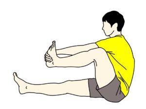 背中の筋肉(広背筋)のストレッチの方法