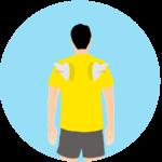 肩甲骨の外転