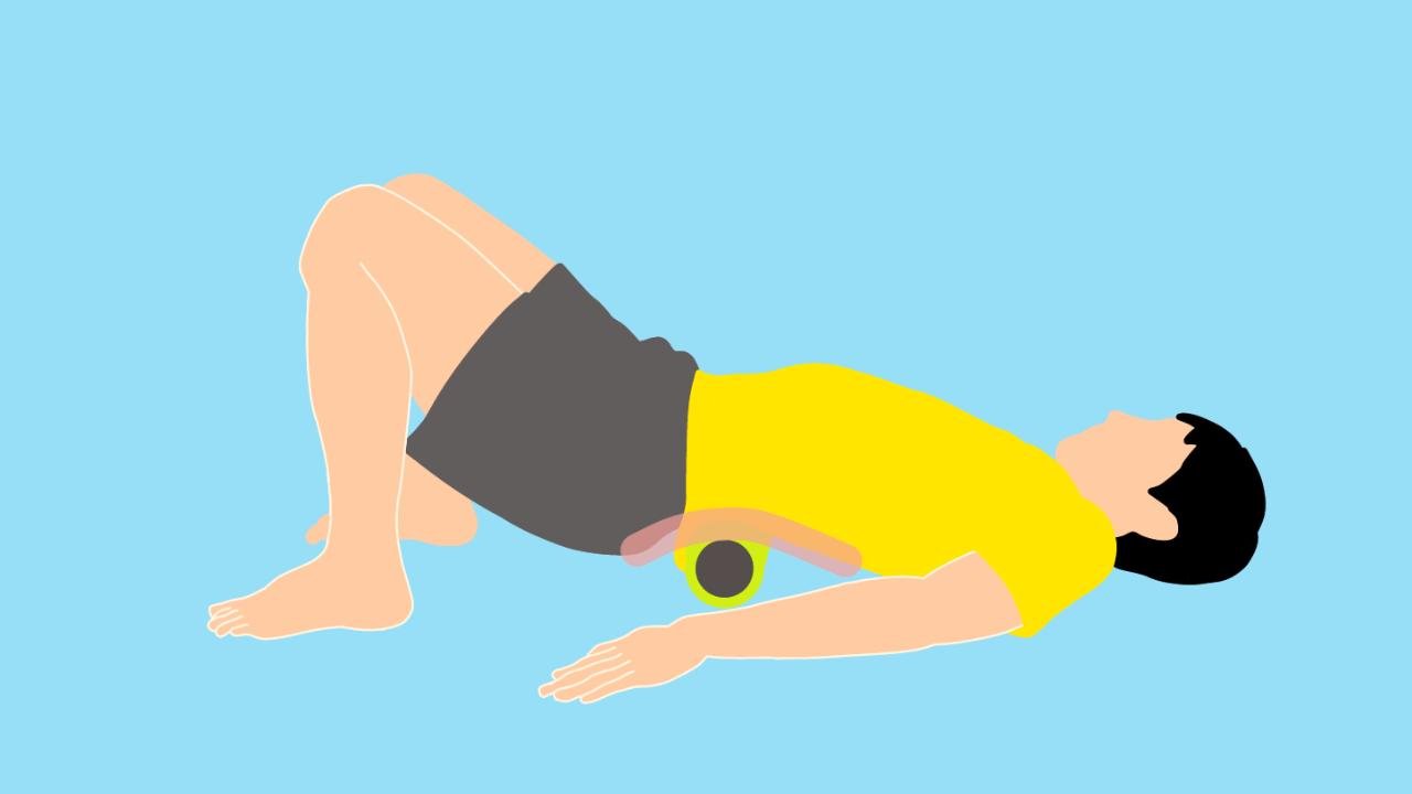 フォームローラーの使い方【腰の筋肉(脊柱起立筋)】
