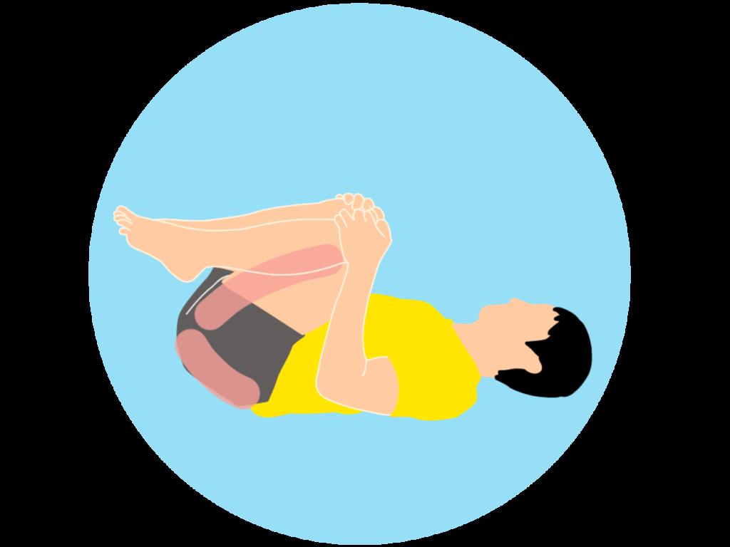 腰とお尻のストレッチ