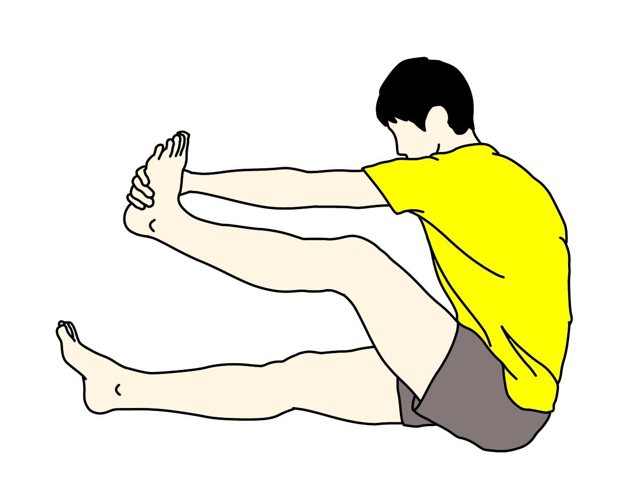 背中の筋肉(広背筋)のストレッチ