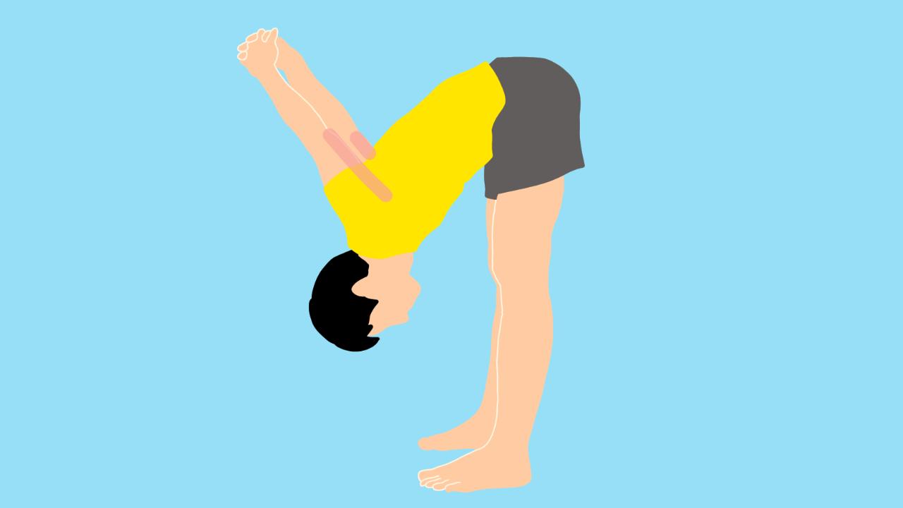 上腕二頭筋と大胸筋のストレッチ