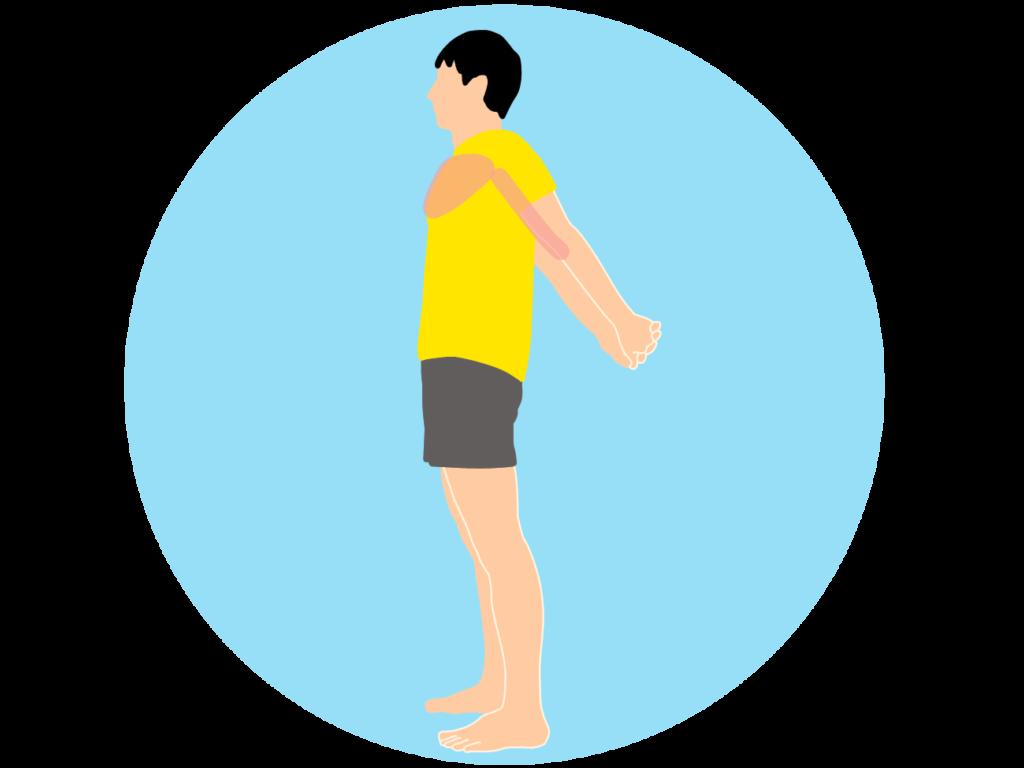 デスクワークの合間におすすめ。胸を広げる大胸筋のストレッチ