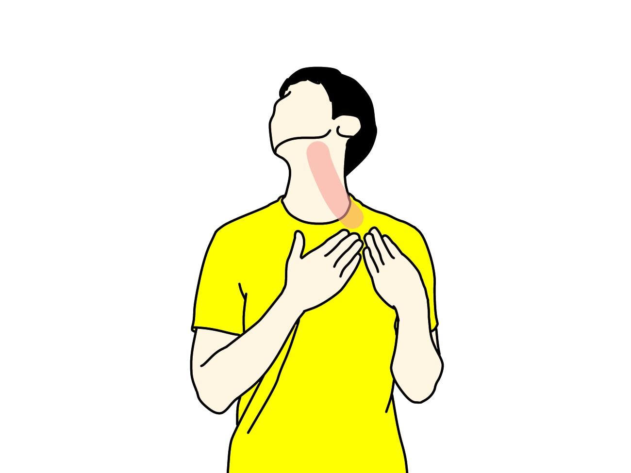 顎〜喉のストレッチ