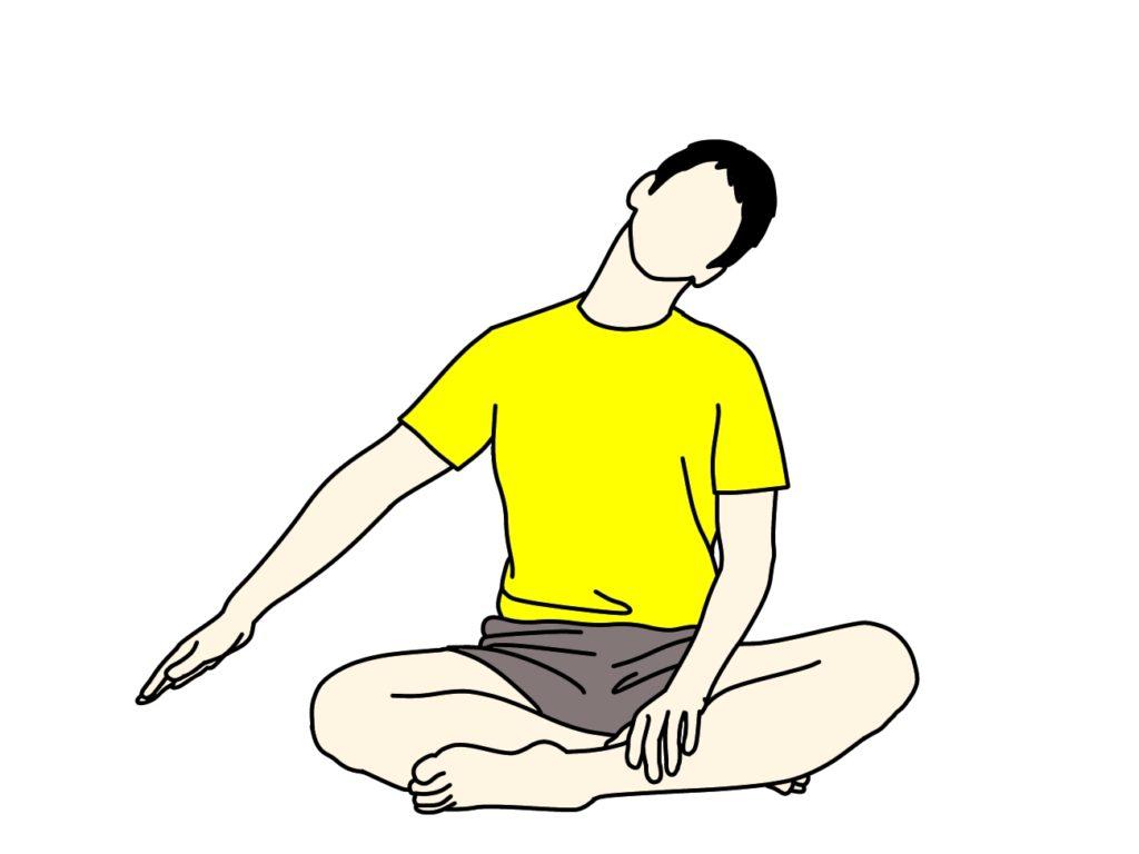 肩こりを和らげよう。首〜肩(僧帽筋上部)のストレッチ