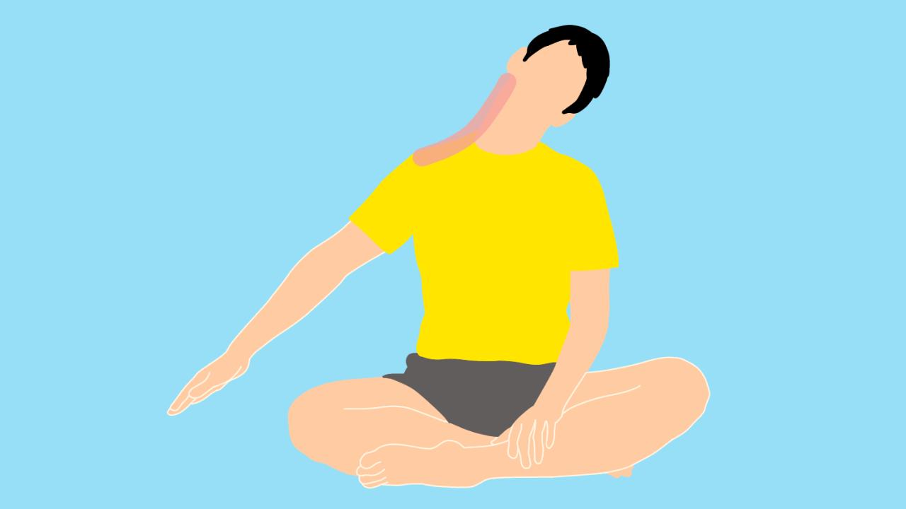 首〜肩(僧帽筋上部)のストレッチ