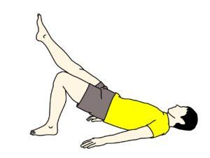お尻の筋肉(大殿筋)ともも裏(ハムストリングス)のトレーニング(片脚ずつ)【体幹トレーニング】