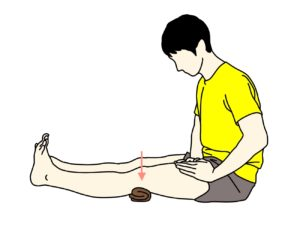 太ももの前側(大腿四頭筋)のトレーニング(クアドセッティング)の方法