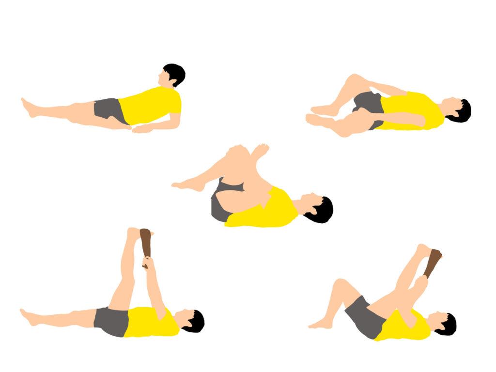 【柔らかい人向け】下半身がスッキリする寝ながらできるストレッチプログラム(5種目)