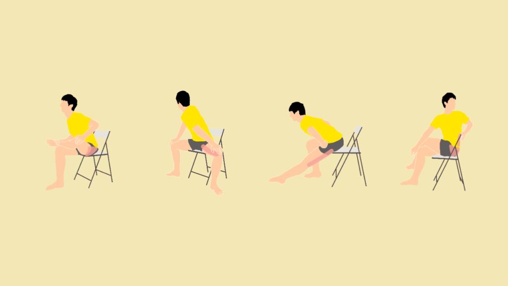椅子に座りながらできる腰痛予防のためのストレッチメニュー