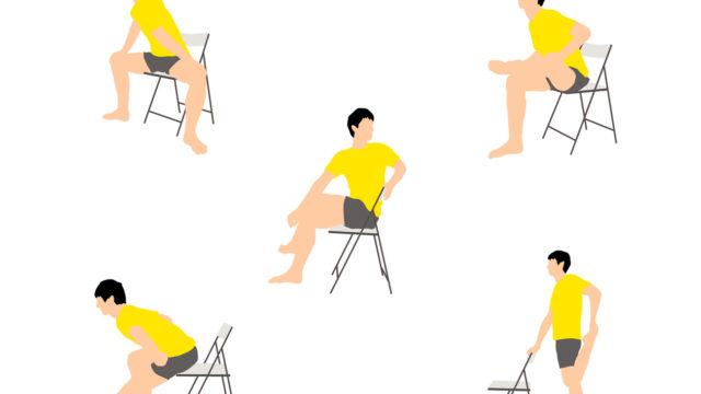 椅子で気軽に。腰まわりスッキリストレッチ5種目