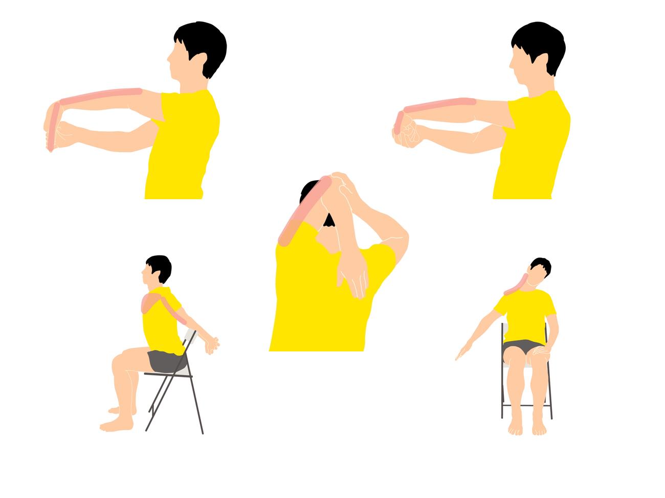 腱鞘炎を予防するための腕と手首のストレッチプログラム(5種目)
