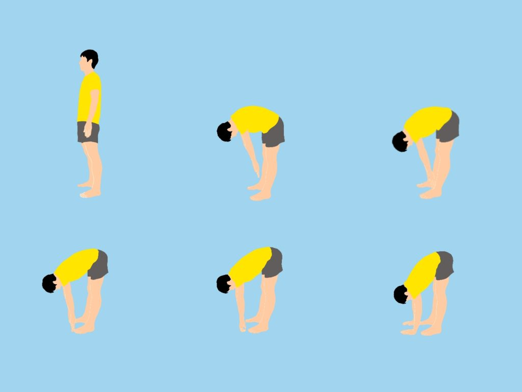 前屈の柔軟性向上ストレッチ