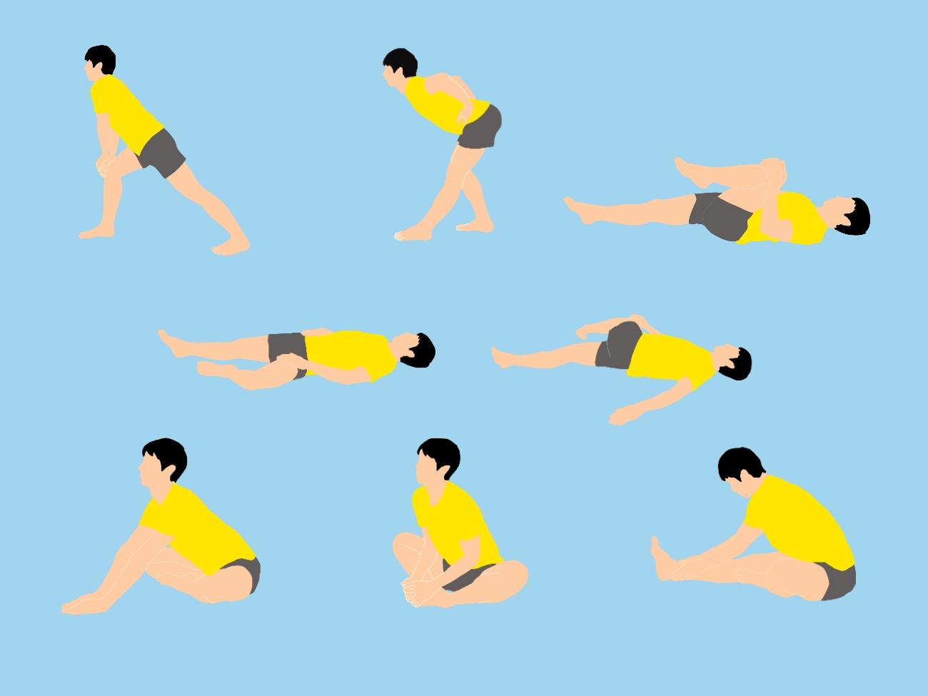 初心者向けの前屈の柔軟性向上ストレッチ