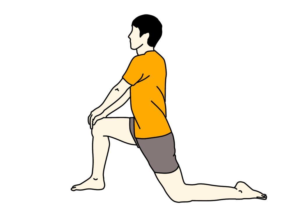 ストレッチイラスト(腸腰筋)