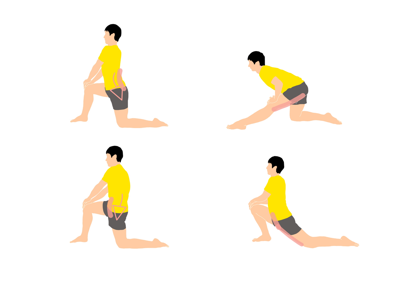 骨盤の前傾と後傾を意識して行うストレッチ