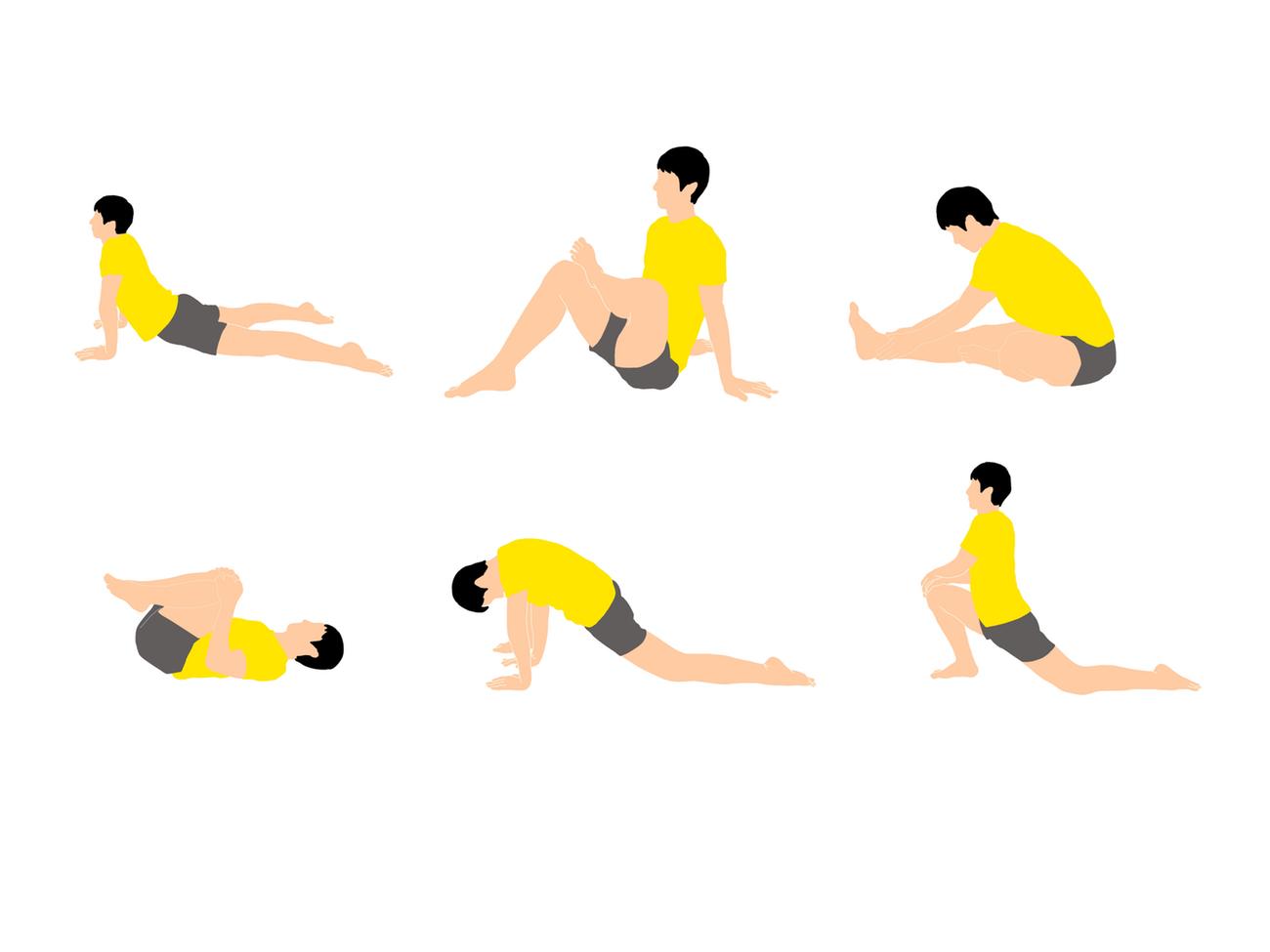 骨盤の前傾と後傾を柔らかくするためのストレッチプログラム
