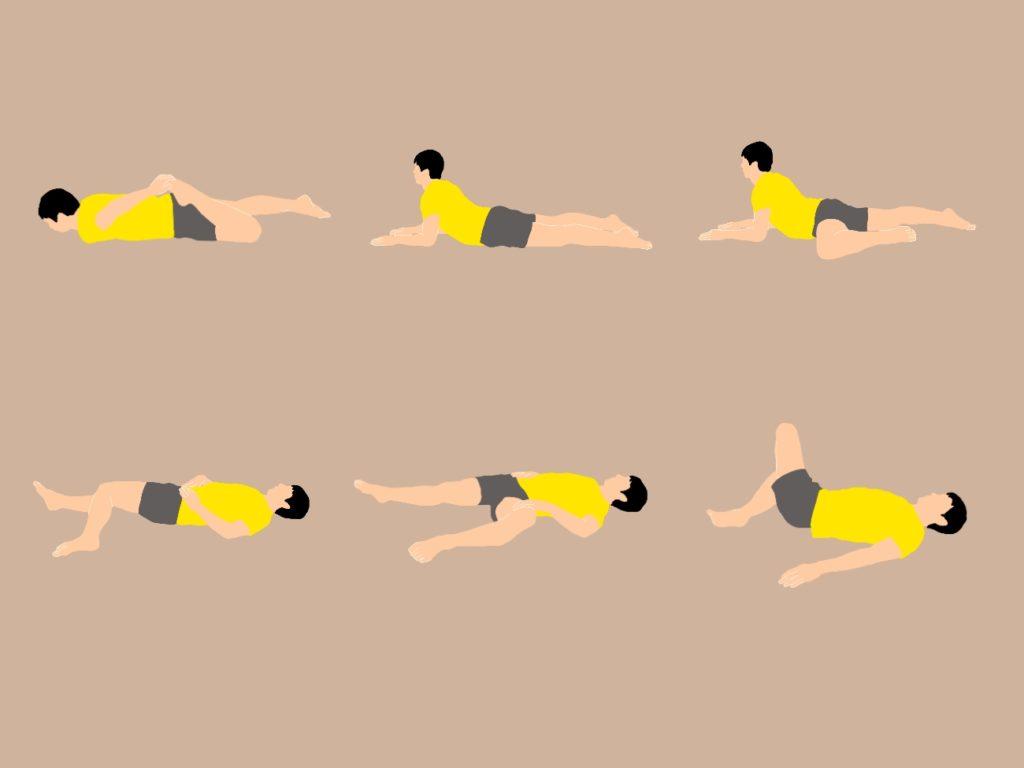寝ながらできる骨盤周りの筋を伸ばして腰をスッキリさせるストレッチプログラム