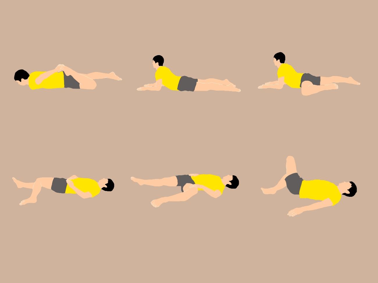 寝ながらできる骨盤周りの筋を伸ばして腰をスッキリさせるストレッチプログラム(10種目)