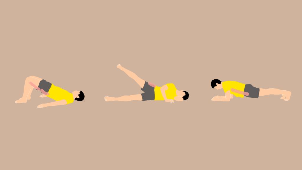 寝ながらできるお尻と体幹トレーニング