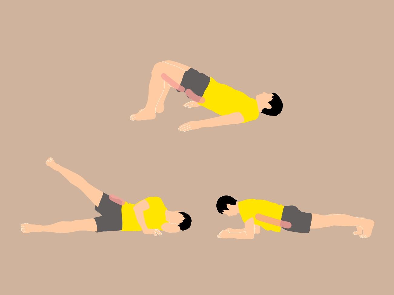 寝ながらできるお尻と体幹トレーニング3種目
