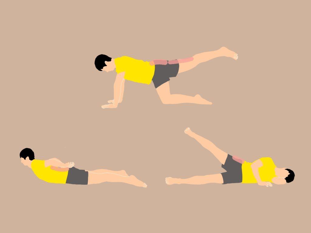 寝ながらできるお尻と背筋のトレーニング