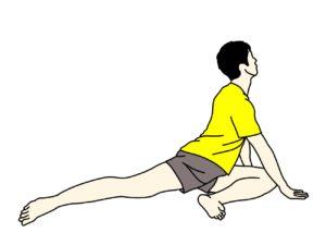 床に座って行う腸腰筋と内もも(内転筋群)のストレッチ