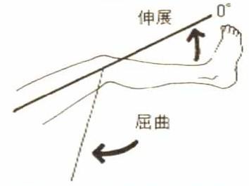膝関節屈曲の関節可動域